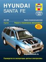 Руководство по ремонту и эксплуатации Hyundai Santa Fe. Модели с 2001 по 2006 год выпуска, оборудованные бензиновыми двигателями