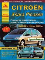 Руководство по ремонту и эксплуатации Citroen Xsara Picasso. Модели с 1999 по 2010 год выпуска, оборудованные бензиновыми и дизельными двигателями