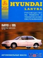 Руководство по ремонту и эксплуатации  Hyundai Lantra. Модели с 1995 года выпуска, оборудованные бензиновыми двигателями