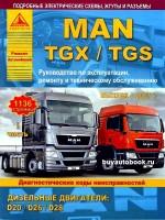 Руководство по ремонту, техническому обслуживанию и эксплуатации MAN TGX / TGS в двух томах. Модели с 2007 года выпуска, оборудованные дизельными двигателями