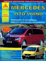 Руководство по ремонту и эксплуатации Mercedes Vito / Viano. Модели 2003-2010 годов выпуска, оборудованные бензиновыми и дизельными двигателями.
