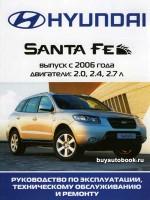 Руководство по ремонту, инструкция по эксплуатации Hyundai Santa Fe. Модели с 2006 года выпуска, оборудованные бензиновыми двигателями