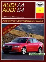 Руководство по ремонту, инструкция по эксплуатации Audi А4 / S4. Модели выпускаемые с 2004 по 2008 год, оборудованные бензиновыми и дизельными двигателями.