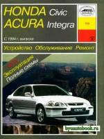 Руководство по ремонту, инструкция по эксплуатации Honda Civic / Acura Integra. Модели с 1994 по 1998 год выпуска, оборудованные бензиновыми двигателями