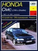 Руководство по ремонту Honda Civic / Civic CRX / Civic Shuttle. Модели с 1987 по 1991 год выпуска, оборудованные бензиновыми двигателями
