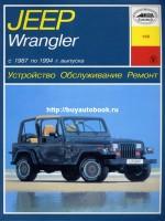 Руководство по ремонту и эксплуатации Jeep Wrangler с 1987 по 1994 год выпуска. Модели, оборудованные бензиновыми двигателями