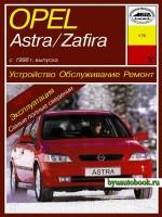 Руководство по ремонту, инструкция по эксплуатации Opel Astra / Zafira. Модели с 1998 года выпуска, оборудованные бензиновыми и дизельными двигателями