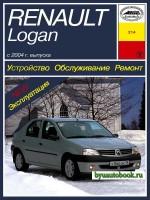 Руководство по ремонту, инструкция по эксплуатации Renault Logan. Модели с 2004 года выпуска, оборудованные бензиновыми двигателями.