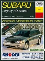 Руководство по ремонту и эксплуатации Subaru Legacy / Outback. Модели с 1999 по 2003 год выпуска, оборудованные бензиновыми двигателями