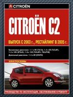 Руководство по ремонту и эксплуатации Citroen C2. Модели с 2003 года выпуска, оборудованные бензиновыми и дизельными двигателями