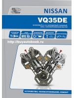 Руководство по ремонту и техническому обслуживанию двигателей Nissan VQ35DE