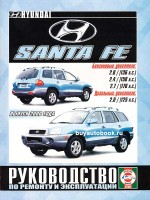 Руководство по ремонту и эксплуатации Hyundai Santa Fe. Модели с 2000 года выпуска, оборудованные бензиновыми и дизельными двигателями.
