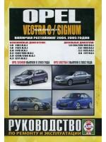 Руководство по ремонту и эксплуатации Opel Vectra C / Signum. Модели с 2002 года (рестайлинг 2005 года), оборудованные бензиновыми и дизельными двигателями