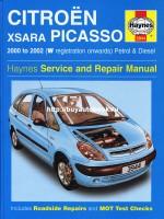 Руководство по ремонту и эксплуатации Citroen Xsara Picasso с 2000 по 2002 год выпуска. Модели оборудованные бензиновыми и дизельными двигателями