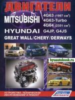 Руководство по ремонту, инструкция по эксплуатации, техническое обслуживание двигателей Mitsubishi 4G63 / 4G63-Turbo / 4G64 / Hyundai G4JP / G4JS