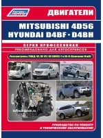 Руководство по ремонту, инструкция по эксплуатации, техническое обслуживание двигателей Mitsubishi 4D56 / 4D56EFI / 4D56DI-D, Hyundai D4BF / D4BH TCI / COVEC-F
