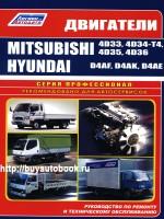Руководство по ремонту, инструкция по эксплуатации, техническое обслуживание двигателей Mitsubishi 4D33 / 4D34-T4 / 4D35 / 4D36 / Hyundai / D4AF / D4AK / D4AE
