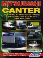 Руководство по ремонту Mitsubishi Canter. Модели с 1993 года выпуска, оборудованные дизельными двигателями