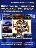 Руководство по ремонту, инструкция по эксплуатации, техническое обслуживание двигателей Mercedes-Benz / Ssang Yong / 601 / 602 / 603 / 604 / 605 / 606