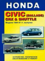 Руководство по ремонту Honda Civic / Civic CRX / Civic Shuttle. Модели с 1984 по 1991 год выпуска, оборудованные бензиновыми двигателями