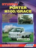 Руководство по ремонту, инструкция по эксплуатации Hyundai H-100 / Porter / Grace. Модели с 1984 по 1999 год выпуска, оборудованные бензиновыми и дизельными двигателями
