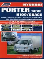 Руководство по ремонту и эксплуатации Hyundai H-100 / Porter / Grace с 2005 по 2012 год выпуска. Модели оборудованные бензиновыми и дизельными двигателями