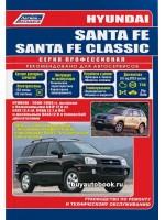 Руководство по ремонту, инструкция по эксплуатации Hyundai Santa Fe / Santa Fe Classic. Модели с 2000 по 2006 год выпуска, оборудованные бензиновыми и дизельными двигателями.
