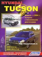 Руководство по ремонту и эксплуатации Hyundai Tucson. Модели с 2004 года, оборудованные бензиновыми и дизельными двигателями