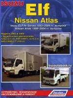 Руководство по ремонту, инструкция по эксплуатации Isuzu Elf / N-Series / Nissan Atlas. Модели с 1993 по 2004 год выпуска, оборудованные дизельными двигателями