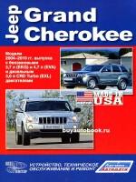 Руководство по ремонту, инструкция по эксплуатации Jeep Grand Cherokee. Модели c 2004 по 2010 год выпуска, оборудованные бензиновыми и дизельными двигателями