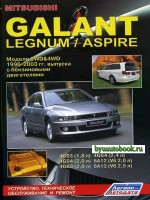Руководство по ремонту, инструкция по эксплуатации Mitsubishi Galant / Legnum / Aspire. Модели с 1996 по 2003 год выпуска, оборудованные бензиновыми двигателями
