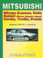 Руководство по ремонту, инструкция по эксплуатации Mitsubishi Galant. Модели с 1983 по 1993 год выпуска, оборудованные бензиновыми двигателями