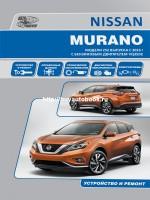 Инструкция по эксплуатации, техническое обслуживание Nissan Murano. Модели с 2016года, оборудованные бензиновыми двигателями
