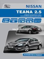 Руководство по ремонту и эксплуатации Nissan Teana с 2014 года выпуска. Модели оборудованные бензиновыми двигателями