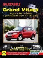 Руководство по ремонту, инструкция по эксплуатации Suzuki Grand Vitara. Модели с 2005 года выпуска, оборудованные бензиновыми двигателями