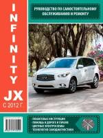 Руководство по ремонту и эксплуатации Infinity JX с 2012 года выпуска. Модели оборудованные бензиновыми двигателями