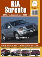 Руководство по ремонту и эксплуатации Kia Sorento. Модели с 2005 года выпуска, оборудованные бензиновыми и дизельными двигателями