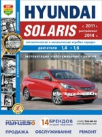 Руководство по ремонту и эксплуатации в фотографиях Hyundai Solaris с 2011 года выпуска (рестайлинг с 2014). Модели оборудованные бензиновыми двигателями