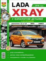 Руководство по ремонту и эксплуатации и каталог деталей Lada Xray с 2016 года выпуска в фото. Модели оборудованные бензиновыми двигателями