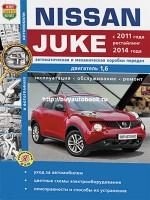 Руководство по ремонту и эксплуатации Nissan Juke. Модели с 2011 года (+ рестайлинг с 2014), оборудованные бензиновыми и дизельными двигателями