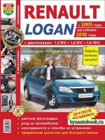 Руководство по ремонту и эксплуатации Renault Logan. Модели с 2005 года выпуска (+рестайлинг 2010 г.), оборудованные бензиновыми двигателями
