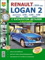 Руководство по ремонту, инструкция по эксплуатации и каталог запасных частей Renault Logan 2 с 2014 года выпуска. Модели оборудованные бензиновыми двигателями