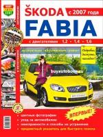 Руководство по ремонту, инструкция по эксплуатации Skoda Fabia. Модели с 2007 года выпуска, оборудованные бензиновыми и дизельными двигателями