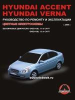 Руководство по ремонту и эксплуатации Hyundai Accent / Verna. Модели с 2006 года, оборудованные бензиновыми двигателями
