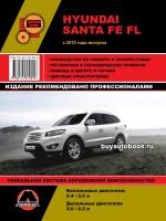 Руководство по ремонту и эксплуатации Hyundai Santa Fe FL. Модели с 2010 года, оборудованные бензиновыми и дизельными двигателями.
