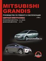 Руководство по ремонту и эксплуатации Mitsubishi Grandis. Модели с 2003 года, оборудованные бензиновыми и дизельными двигателями