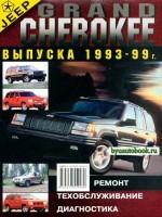 Руководство по ремонту, инструкция по эксплуатации Jeep Grand Cherokee. Модели с 1993 по 1999 год выпуска, оборудованные бензиновыми двигателями