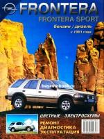 Руководство по ремонту, инструкция по эксплуатации Opel Frontera. Модели с 1991 года выпуска, оборудованные бензиновыми и дизельными двигателями