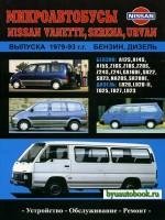 Руководство по ремонту и эксплуатации Nissan Vanette / Serena / Urvan. Модели с 1979 по 1993 год выпуска, оборудованные бензиновыми и дизельными двигателями