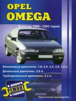 Руководство по ремонту и эксплуатации Opel Omega. Модели с 1986 по 1993 год выпуска, оборудованные бензиновыми и дизельнымидвигателями